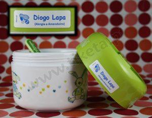 Etiquetas Alergias Alimentares personalizadas com o nome