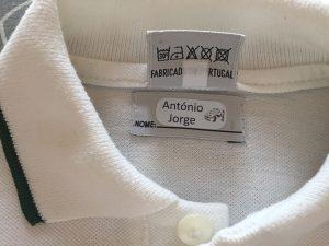Etiquetas termoaderentes personalizadas com o nome