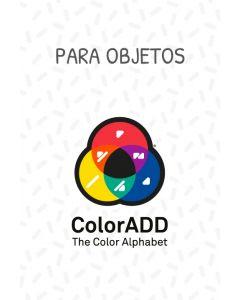 Autocolantes com o Alfabeto das  Cores ColorADD