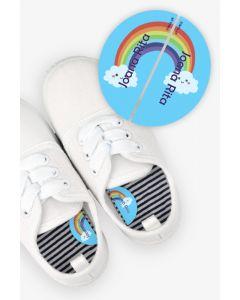 Etiquetas para Calçado Esquerda e Direita - Arco-Iris