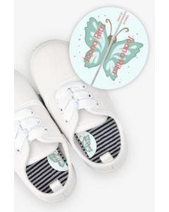 Etiquetas para Calçado Esquerda e Direita - Borboleta