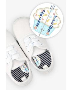 Etiquetas para Calçado Esquerda e Direita - CupCake