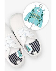 Etiquetas para Calçado Esquerda e Direita - Monstro