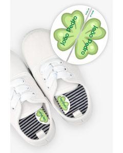 Etiquetas para Calçado Esquerda e Direita - Trevo